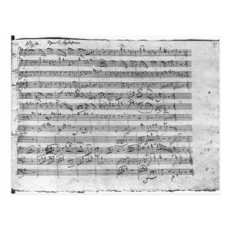G-Major für Violine, Cembalo und Violoncello 3 Postkarte