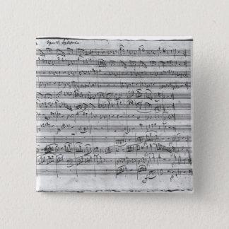 G-Major für Violine, Cembalo und Violoncello 3 Quadratischer Button 5,1 Cm