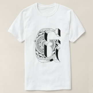 G - Mandala N°1 innerhalb des Alphabetes N°1 T-Shirt