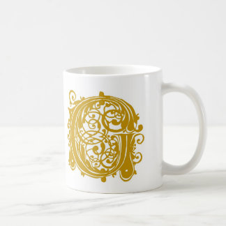 G-Monogramm-Hochzeits-GoldTassenschalen und Steins Kaffeetasse