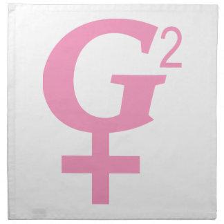 G-Quadratisches großes - Großmutter Symbol Stoffserviette