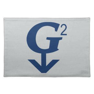 G-Quadratisches großes - großväterliches Symbol Tischset