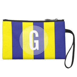 """G-"" SeeseeflaggeWristlet Mini Velour Clutch"