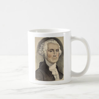 G Washington, Currier und Ives Kaffeetasse