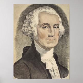 G Washington, Currier und Ives Poster