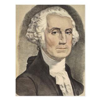 G Washington, Currier und Ives Postkarte