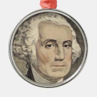 G Washington, Currier und Ives Silbernes Ornament