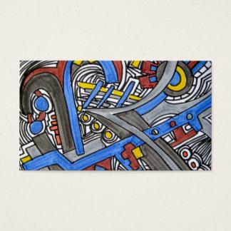 Gabel im Straße-Abstrakten geometrischen Visitenkarte