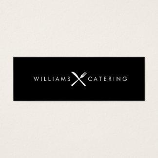 Gabel-Messer schneiden Logo-schwarze dünne Mini Visitenkarte