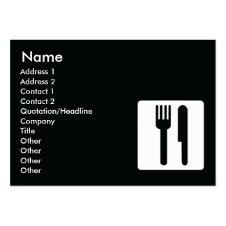 Gabel und Messer - mollig Jumbo-Visitenkarten