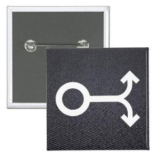 Gabel versieht Piktogramm mit Seiten Quadratischer Button 5,1 Cm