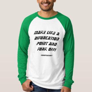 Gabelungs-Punkt-langes Hülsen-Shirt T-Shirt