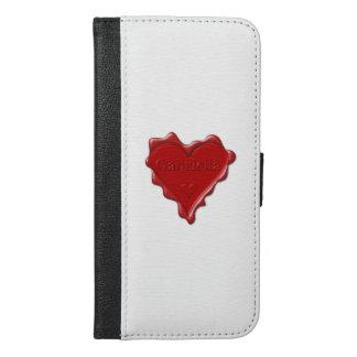 Gabriella. Rotes Herzwachs-Siegel mit iPhone 6/6s Plus Geldbeutel Hülle