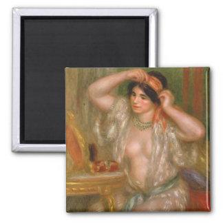 Gabrielle am Spiegel Quadratischer Magnet