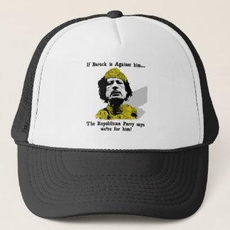 Gaddafi Republikaner-Liebe er Truckerkappe