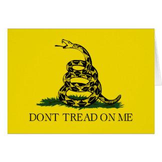 Gadsden-Flagge - treten Sie nicht auf mir Karte