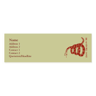 Gadsden-Flaggen-Visitenkarten