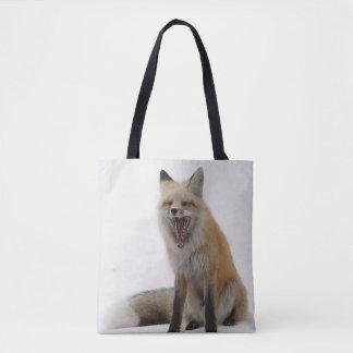 gähnende Fuchstasche, Fuchs-Tasche, Fuchskäufer, Tasche