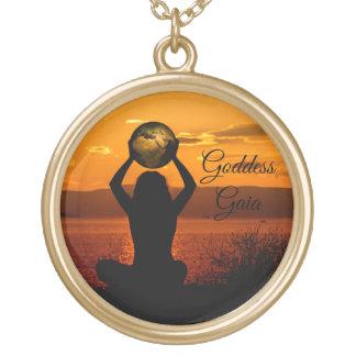 Gaia-Erdgöttin Vergoldete Kette