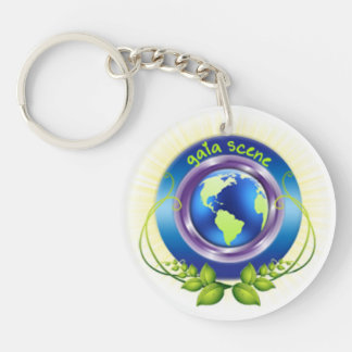 Gaia-Szene rundes Keychain Schlüsselanhänger