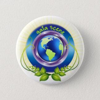 Gaia-Szenen-rundes Knopf-Weiß Runder Button 5,1 Cm