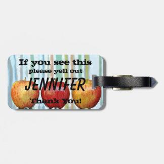 Gala-Äpfel u. wenn Sie dieses sehen, schreien Gepäckanhänger