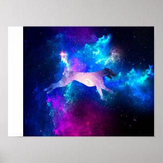 Galaktischer Dobermann Poster
