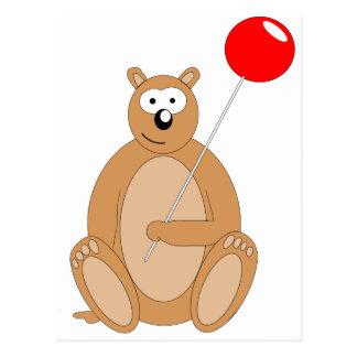 Galan der Bär mit einem LollyPop Postkarte