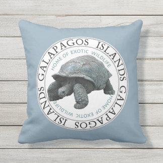 Galapagos-Insel-Schildkröten-Kissen im Freien Kissen Für Draußen