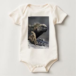 Galapagosmarineleguan und Lavaeidechse Baby Strampler