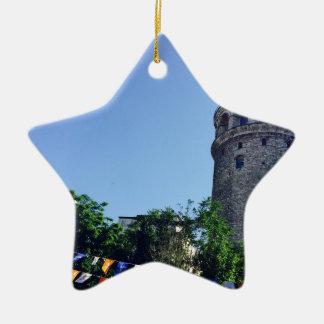 Galata Turm inspiriert Keramik Ornament