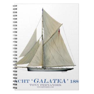 Galatea 1886 spiral notizblock