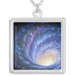 Galaxie 2 versilberte kette