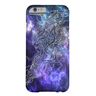 Galaxie-Abdeckung mit dem Gesicht der schönen Frau Barely There iPhone 6 Hülle