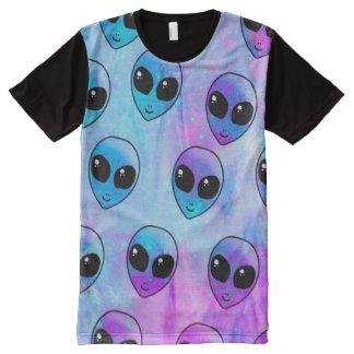 Galaxie-alien-Shirt T-Shirt Mit Komplett Bedruckbarer Vorderseite