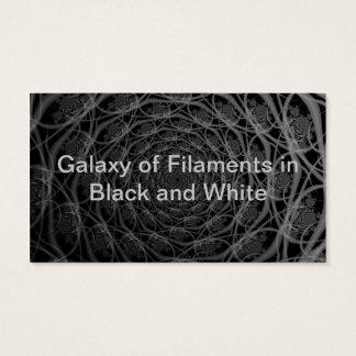 Galaxie der Fäden in der Schwarzweiss-Karte Visitenkarte