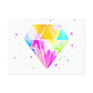 Galaxie-Diamant Leinwanddruck