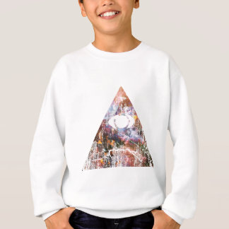 Galaxie-Dreieck Sweatshirt