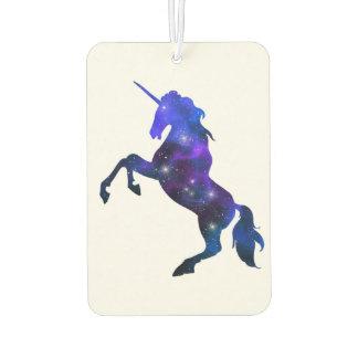 Galaxie funkelnd Bild blauen schönen Unicorn Lufterfrischer