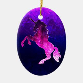 Galaxie funkelnd Bild rosa schönen Unicorn Keramik Ornament