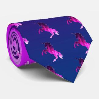Galaxie funkelnd Bild rosa schönen Unicorn Krawatte
