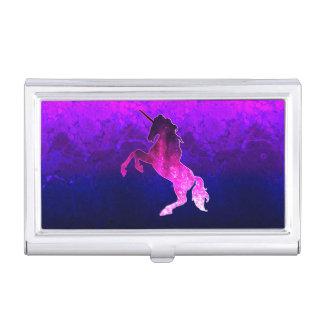 Galaxie funkelnd Bild rosa schönen Unicorn Visitenkarten Dose