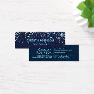 Galaxie-Glitzer-Grafik-Blasen-Sterne Mini Visitenkarte