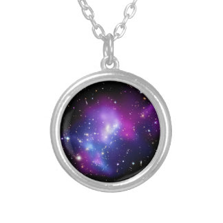 Galaxie-Gruppe MACS J0717 Weltraum-Foto Versilberte Kette