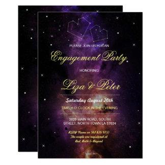 Galaxie hat Raum-Liebe-Himmel-Verlobungs-Einladung 12,7 X 17,8 Cm Einladungskarte