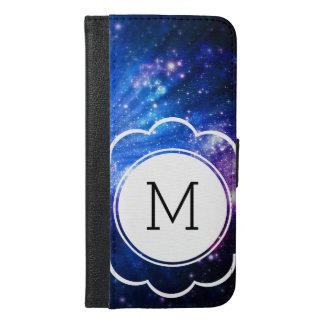 Galaxie-Initiale iPhone 6/6s Plus Geldbeutel Hülle