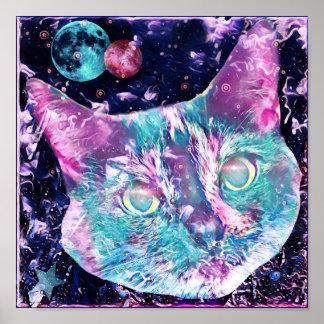 Galaxie-Katze Poster