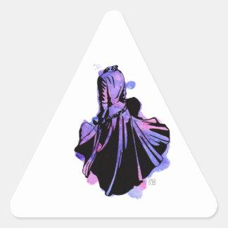 Galaxie-Kleid Dreieckiger Aufkleber