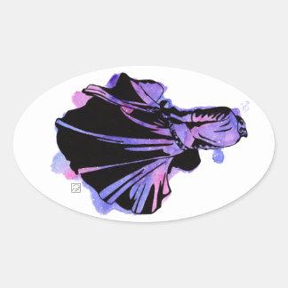 Galaxie-Kleid Ovaler Aufkleber