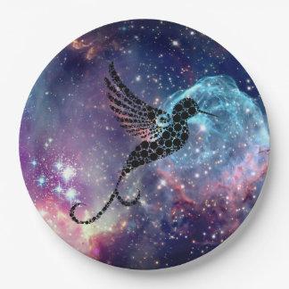 Galaxie-Kolibriplatte Pappteller